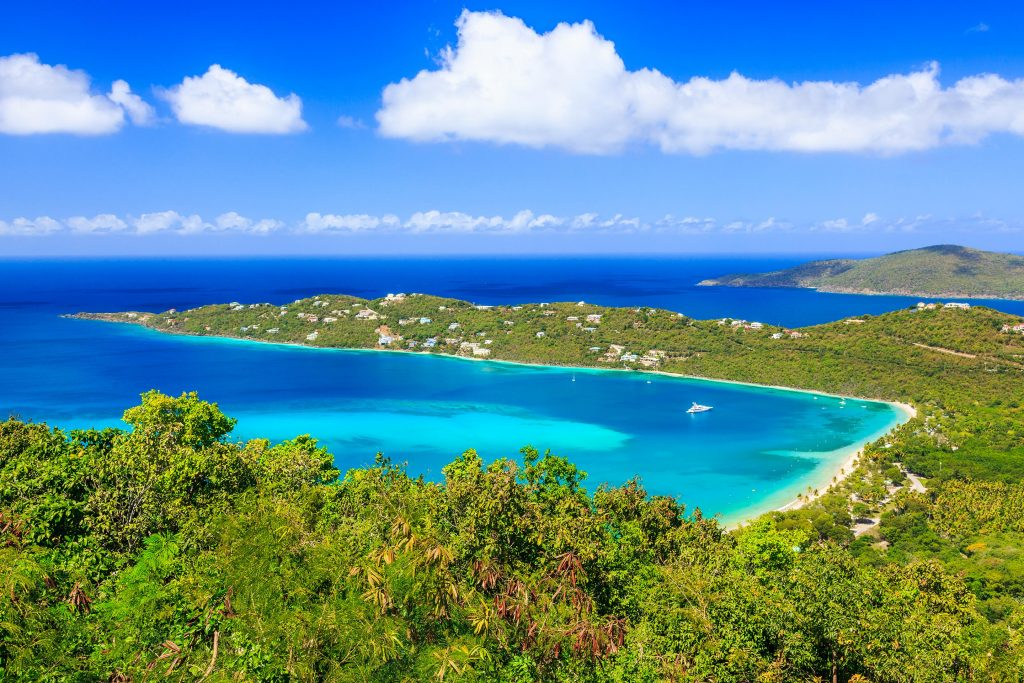 Turquoise Waters in an Eastern Caribbean Island