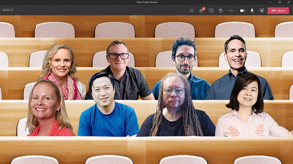 """La actualización de Teams que coloca a los usuarios en un """"teatro"""""""