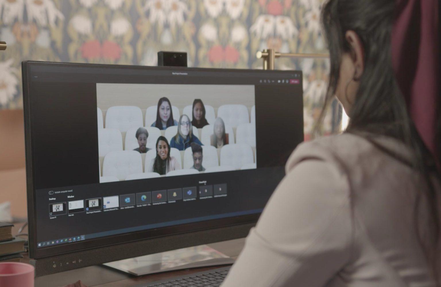 monitores y camaras certificadas para Microsoft Teams